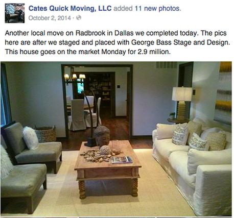 home staging example north dallas highland park area